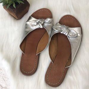 Seychelles Moonlight Silver Knit Slides